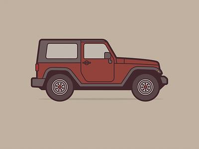 Jeep Wrangler usa america automobile retro car dribbble negativebear cubhaus jeep wrangler wrangler jeep