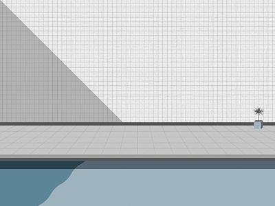 Poolside cubhaus negativebear abstract lines geometric minimal 1980s 80s poolside pool