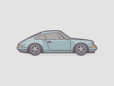 Porsche 911 dribbble illustration negativebear cubhaus automobile retro car porsche 911 911 porsche