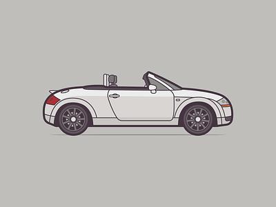 Audi TT illustration car negativebear cubhaus automobile tt audi