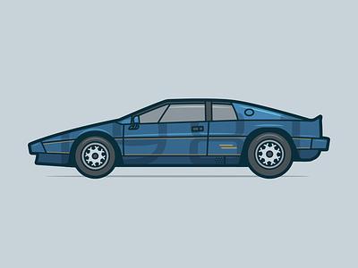 Lotus Esprit blue automobile 1980s lotus esprit lotus illustration 80s car cubhaus negativebear