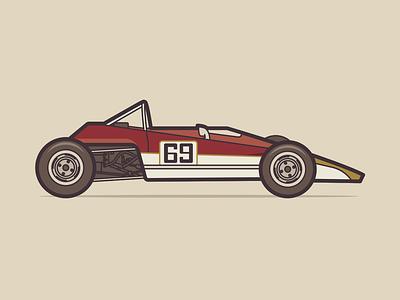 Lotus 61 lotus retro car illustration negativebear