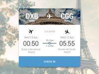Travel app - Booking card