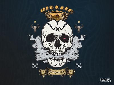 Dribbble Prompt N° 51 : King Skull dribbbleweeklywarmup spooky skull halloween illustration