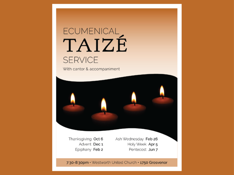 Ecumenical Taize Service Poster poster design