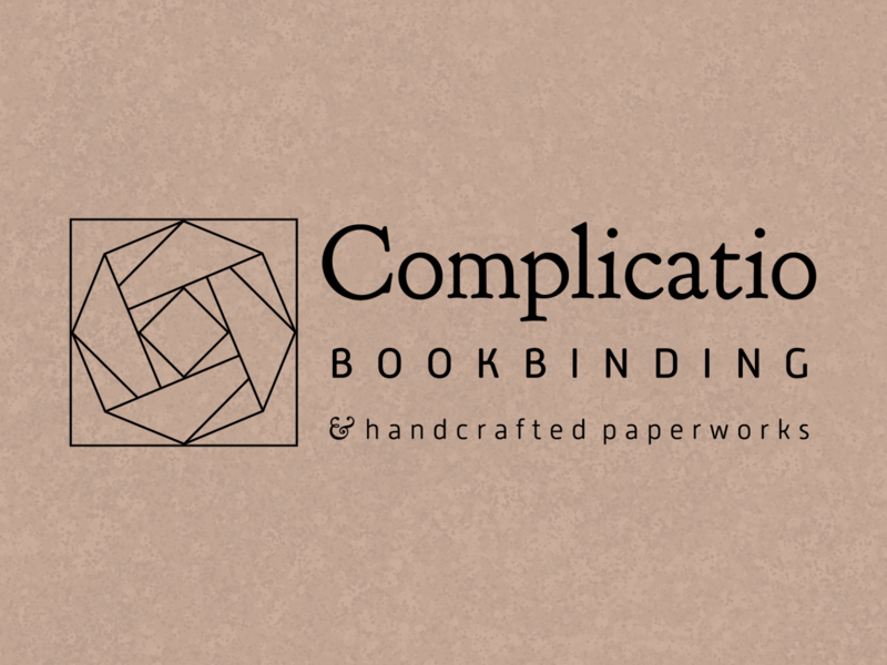 Complicatio Bookbinding branding branding logo vector design