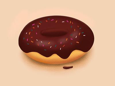 Donut drawing chocolate procreate sprinkle donut