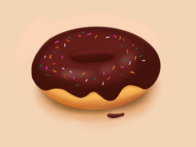 Donut drawing chocolate procreate sprinkle donut