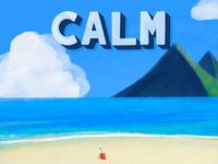 Calm mountain ipad digital drawing beach calm procreate
