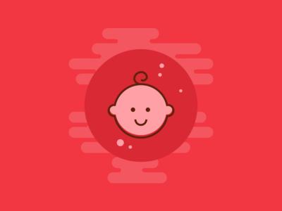ChildCare - icons_1 icon illustration red concept syringe walkthrough iphone immunization vaccination child