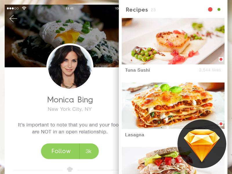 Chef App Freebie concept cooking minimal ui cook food free freebie ios app recipe chef