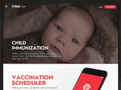 ChildCare Web interface web red syringe immunization vaccination child