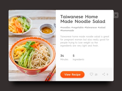 Chef App Card concept cooking minimal ui cook food card app recipe chef