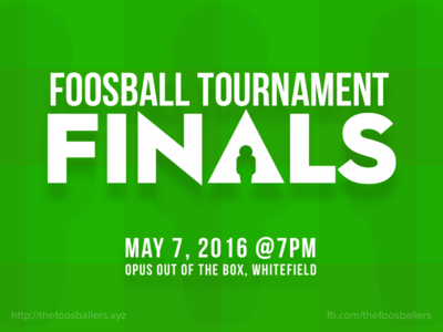 Foosball Tournament Poster