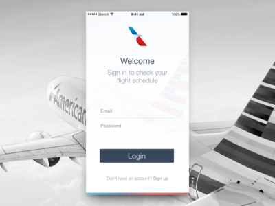 American Airlines Concept american airlines ui concept pilot login
