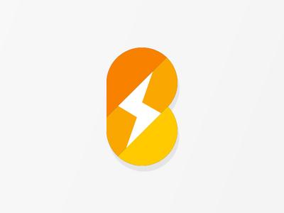 Unused Logo design orange bolt logo unused