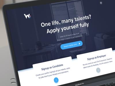 WorkHalf Website illustration design brand website workhalf