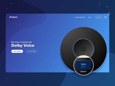 Automatic perceptions branding ux redesign concept website bluejeans