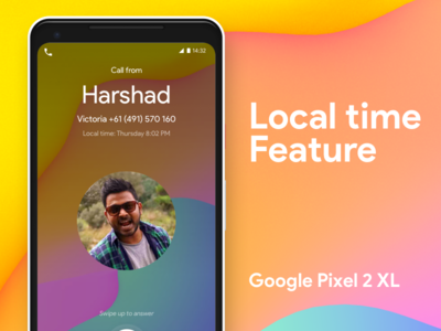 Pixel 2 XL - Local time feature Freebie google freebie feature time pixel 2 xl pixel