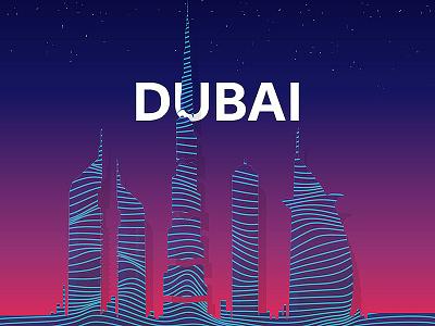 Dubai Silhouette dubai silhouette illustrator