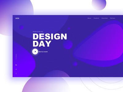 Color of the day color landing web ui design