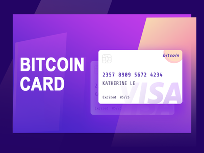 Bitcoin Creditcard design trend color card creditcard bitcoin interface ux ui