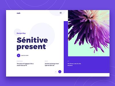 Fitting Purple & Mondrianizm design web creative typography trend color landing ux ui purple mondrianizm