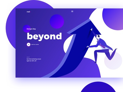Creative purple of the day trend ux landing ui creative color purple