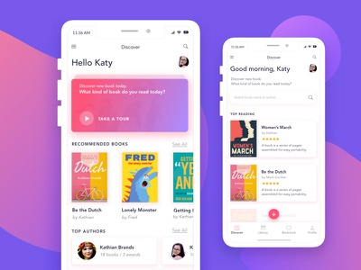 Book App for Booklover ux mobile interface interaction booklover design bright purple shot ui app book