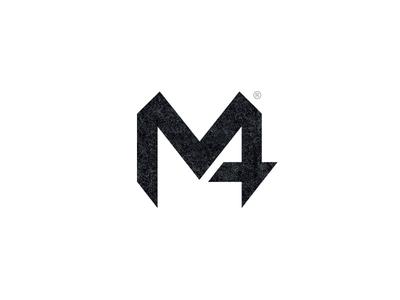 M4 dark fashion m4 graphic logo design m4 logo