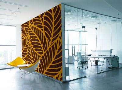 Sustainawall - Yellow Palms coconut yellow palms design office interior wall design walls plastics sustainable sustainability murals