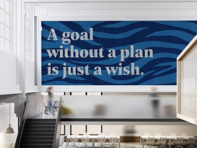Sustainawall - Plan mural design quote art wall art mural sustainability sustainable