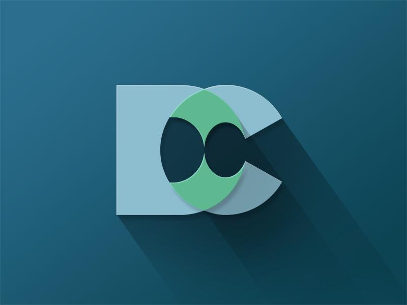 DC Flat Layers flat layers shadow icon logo dc