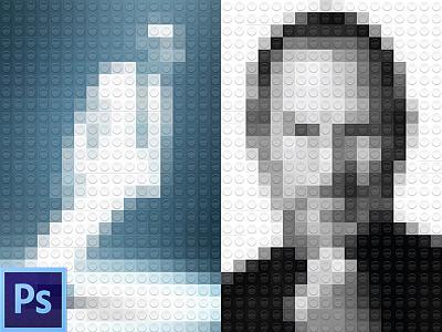 Legolize yourself PSD lego psd photo freebie free tutorial michael jackson steve jobs design