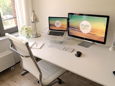 My Office Space office photo workspace area work desk apple
