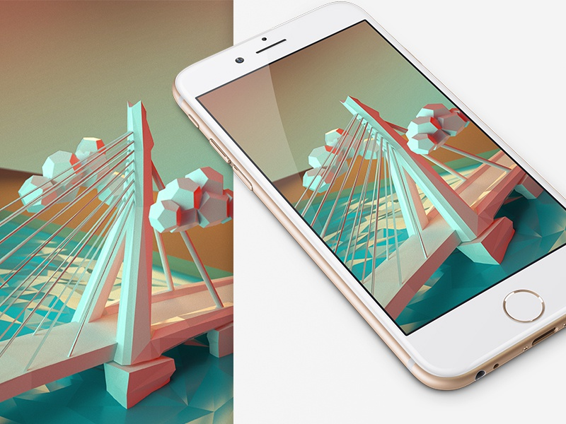 Lowpoly iphone wallpaper