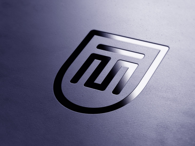 MT company bank mockup flat shield finance logo mt