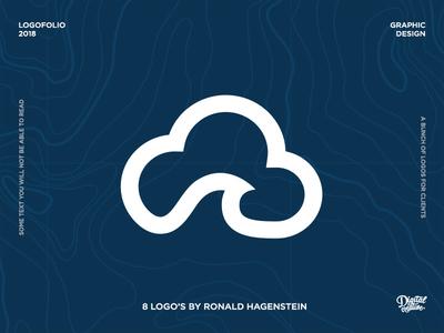 Logofolio - Volume 3 hidden inverted diap dark blue wave cloud logo