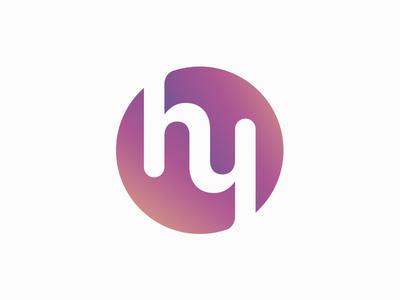 Hello You Logo logo mark circle round hello you purple hy logo hy