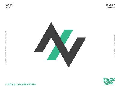 AXV Logo project green design logo axv axv logo