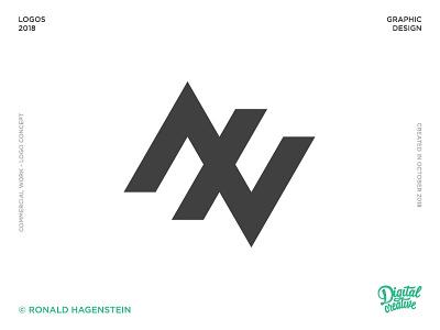 AXV Mono graphic logo design axv logo axv
