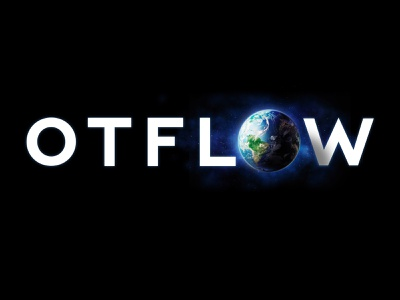 OTFLOW Globe ident wallpaper branding otflow space earth world globe logo
