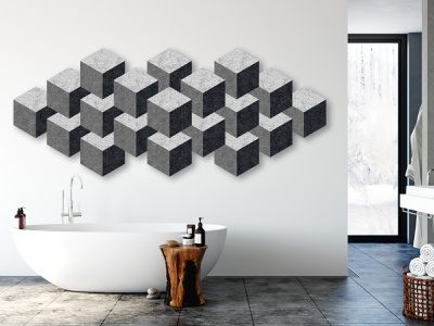 Cubes Wall Art interior design ideas felt 3d wallpaper wall art bathroom interior design cubes