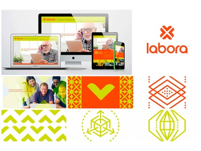 Design - Direção de Arte - LABORA app website web vector minimal graphic design logo design typography branding
