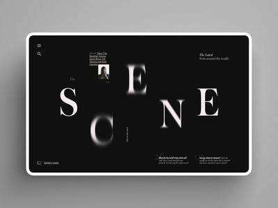 Scene Section web luxury design stillframe bold dark ui function design grid geometry clean minimalism app ui