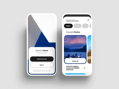 Travel app interface cards travel app travel white ux function geometry clean mobile os minimalism app ui