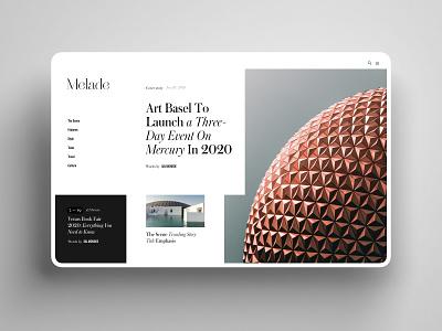 Editorial Menu bold creative desktop interface inspiration minimalism clean function grid webdesign uiux ux ui elegant luxury editorial