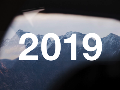 2019: The Year In Review typography website branding ux ui app brand identity brand design yearbook year in review brand film film animation