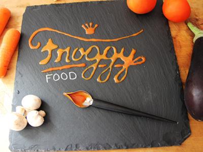 Froggy FOOD lettering food design branding logotype