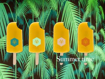 Dribble visual food branding ice cream summer time